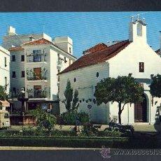 Postales: POSTAL DE MARBELLA (MALAGA): PLAZA QUEIPO DE LLANO, ERMITA DE SANTIAGO (ED.G.GARRABELLA NUM.10). Lote 25401015
