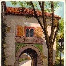 Postales: Nº 8730 GRANADA SIN DIVIDIR ALHAMBRA PUERTA DEL VINO. Lote 25456956