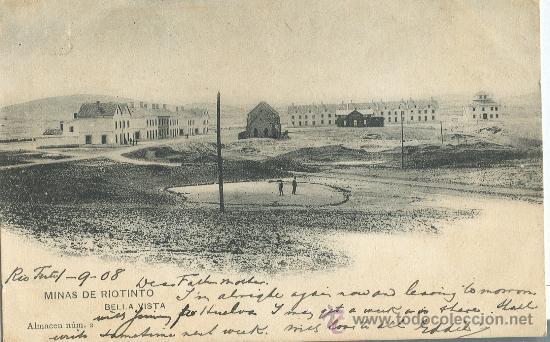 HUELVA. MINAS DE RIO TINTO. BELLA VISTA. HACIA 1905. HAUSER Y MENET. (Postales - España - Andalucía Antigua (hasta 1939))