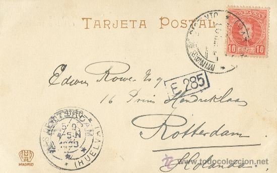 Postales: HUELVA. MINAS DE RIO TINTO. BELLA VISTA. HACIA 1905. HAUSER Y MENET. - Foto 2 - 26970410