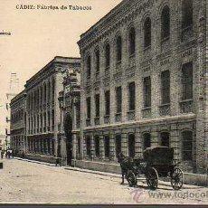 Postales: MUY BUENA POSTAL DE CADIZ - FABRICA DE TABACOS. CARRO CARRUAJE - 1935 HAUSER Y MANET . Lote 25803202