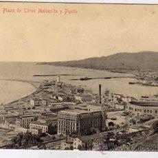 Postales: MALAGA. PLAZA DE TOROS MALAQUITA Y PUERTO .ED. DOMINGO DEL RIO. SIN CIRCULAR.. Lote 26047520