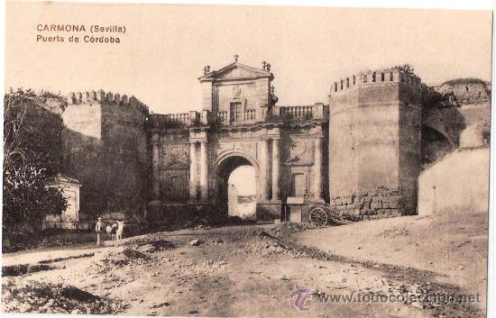 Tarjeta postal de carmona sevilla puerta de c comprar for Puerta de sevilla carmona