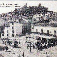 Postales: ALCALA LA REAL (JAEN).-SALIDA DE COCHES PARA GRANADA, HACIA 1910.- REPRODUCCION. Lote 26121777