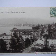 """Postales: """"MÁLAGA. PASEO DE LA CALETA"""". CON SELLO DE 5 CTS DE ALFONSO XIII. Lote 26333408"""