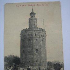 """Postales: """"SEVILLA- TORRE DEL ORO"""". CIRCULADA, ESCRITA Y FECHADA EL 4.VII-1914.. Lote 26378174"""