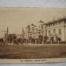 Postales: SEVILLA- AVENIDA BORBOLLA. CIRCULADA Y ESCRITA.. Lote 26378415