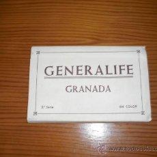 Postales: GENERALIFE GRANADA POSTALES ENCADENADAS EN COLOR VER FOTOS. Lote 26645087