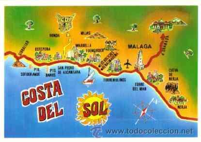 Costa Del Sol Mapa De La Costa Del Sol Sold Through Direct