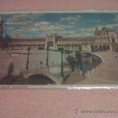 Postales: ANTIGUA POSTAL PLAZA DE ESPAÑA VISTA GENERAL SEVILLA. Lote 27154329