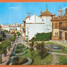 Postales: PARADAS - SEVILLA - PLAZA DE ESPAÑA Y CALLE JOSE ANTONIO - Nº 1 EXCL. LIBRERIA FERNANDEZ. Lote 27212539