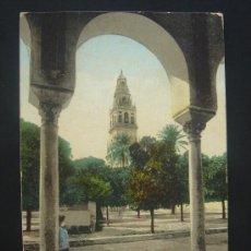 """Postales: """"CÓRDOBA. PATIO Y TORRE DE LA MEZQUITA"""". CIRCULADA, ESCRITA Y SELLO 10 CTS DE ALFONSO XIII(30-8-08). Lote 27405009"""