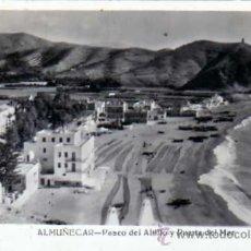 Postales: ALMUÑECAR. GRANADA. PASEO DEL ALITLLO Y PUERTA DEL MAR. CIRCULADA EN 1954.. Lote 27469950