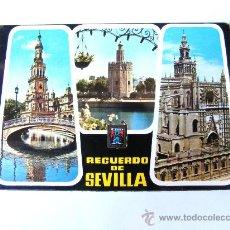 Postales: POSTAL, SEVILLA, ANDALUCIA, ESTANQUE PLAZA ESPAÑA, TORRE DEL ORO, CATEDRAL, Nº119. Lote 27523111