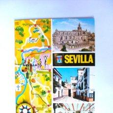 Postales: POSTAL, SEVILLA, ANDALUCIA, LA CATEDRAL, RINCON DEL BARRIO DE SANTA CRUZ, FERIAS DE ABRIL, Nº220. Lote 27523146