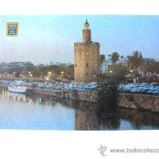 Postales: POSTAL, SEVILLA, ANDALUCIA, TORRE DEL ORO Y DARSENA, Nº1. Lote 27523231