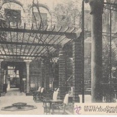 Postales: SEVILLA.GRAND HOTEL DE MADRID. PATIO CENTRAL.. Lote 27634063