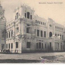 Postales: MALAGA. PALACIO MUNICIPAL.HAUSER Y MENET.NO CIRCULADA.. Lote 27634404