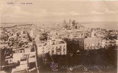POSTAL DE CADIZ - VISTA GENERAL (Postales - España - Andalucía Antigua (hasta 1939))