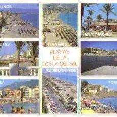Postales: PLAYAS DE LA COSTA DEL SOL - TORREMOLINOS - FUENGIROLA - BENALMADENA - MARBELLA. Lote 27740350