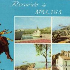 Postales: RECUERDO DE MÁLAGA MOD. 227 SOL DE ESPAÑA FOTO LLOPIS ESCRITA SIN CIRCULAR . Lote 27823394