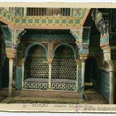 Postales: POSTAL ANTIGUA GRANADA ALHAMBRA SALA DE CAMAS. Lote 28207434