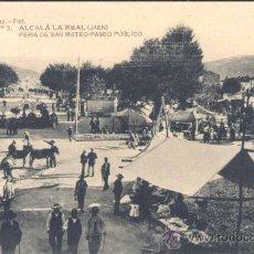 Postales: ALCALÁ LA REAL (JAÉN).- FERIA DE SAN MATEO-PASEO PÚBLICO. Lote 28177847