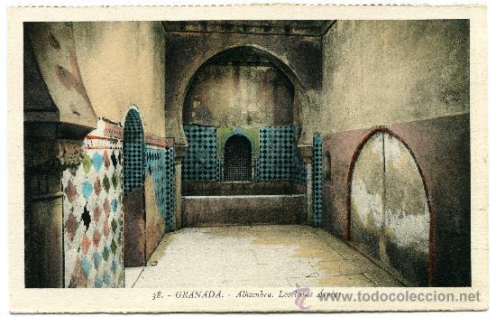 POSTAL ANTIGUA Granada Alhambra, Los Baños árabes