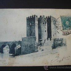 """Postales: """"CÓRDOBA. TORRE DE LA CARRAOLA"""".CIRCULADA, ESCRITA Y CON SELLO DE 5 CTS DE ALFONSO XIII(20-I-08). Lote 28558968"""
