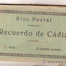 Postales: BLOC POSTAL RECUERDO DE CADIZ. 1ª SERIE. 12 POSTALES. GRAFOS MADRID. COMPLETO.. Lote 28577019