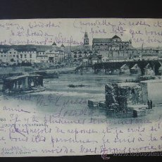 """Postales: """"CÓRDOBA. EL PUENTE Y LA CATEDRAL"""". CIRCULADA, ESCRITA Y 2 SELLOS 5 CTS DE ALFONSO XIII(1902)). Lote 28597124"""