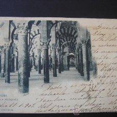 """Postales: """"CÓRDOBA. LA MEZQUITA"""". CIRCULADA, ESCRITA Y SELLO 10 CTS DE ALFONSO XIII(11-I-02). Lote 28631156"""