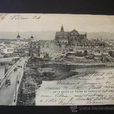 """Postales: """"CÓRDOBA. VISTA DESDE TORRE DE LA CARRAOLA"""".CIRCULADA, ESCRITA Y SELLO 10 CTS ALFONSO XIII(26-II-04). Lote 28639417"""