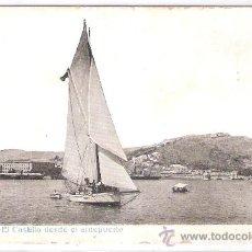 Postales: MALAGA - EL CASTILLO DESDE EL ANTEPUERTO - (8039). Lote 28648683