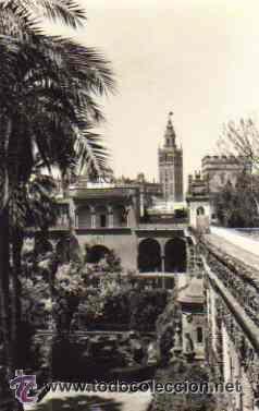 SEVILLA - LA GIRALDA DESDE LOS REALES ALCAZARES (Postales - España - Andalucia Moderna (desde 1.940))