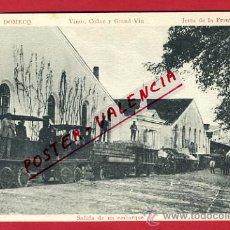 Cartes Postales: JEREZ DE LA FRONTERA, CADIZ, TREN, VINOS, COÑAC Y GRAND VIN, SALIDA DE UN EMBARQUE, P64280. Lote 28924262