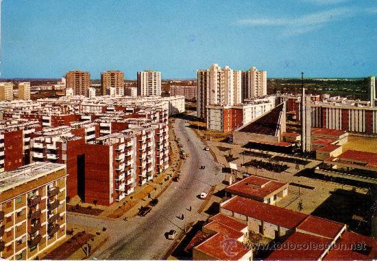 SEVILLA - POLIGONO DE SAN PABLO - VISTA PARCIAL - MUY RARA (Postales - España - Andalucia Moderna (desde 1.940))