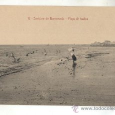 Postales: 12-SANLUCAR DE BARRAMEDA-VISTA PLAYA DE BAÑOS. Lote 29034866