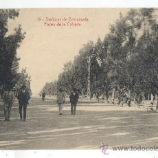 Postales: 18-SANLUCAR DE BARRAMEDA-VISTA PASEO DE LA CALZADA. Lote 29034962