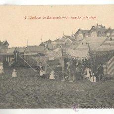 Postales: 19-SANLUCAR DE BARRAMEDA-VISTA UN ASPECTO DE LA PLAYA. Lote 29034978