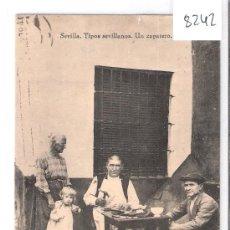 Postales: SEVILLA - TIPOS SEVILLANOS . UN ZAPATERO- COLECCION BARREIRO - (8242). Lote 29207981