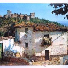 Postales: ANTIGUA POSTAL DE GRANADA - ALBAICIN (FONDO LA ALHAMBRA) - IMPRESION CASAMAJO - ZERKOWITZ - Nº 273. Lote 29213864