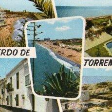 Postales: TORREMOLINOS Nº 30 VISTA PARCIAL VARIOS ASPECTOS DOMINGUEZ . Lote 29260644