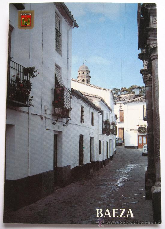 ANTIGUA POSTAL DE JAEN - BAEZA - CALLE DEL SACRAMENTO - EDICIONES FISA - Nº 37 (Postales - España - Andalucia Moderna (desde 1.940))