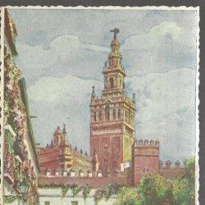 Postales: SEVILLA PATIO DE BANDERAS Y GIRALDA. Lote 29361834