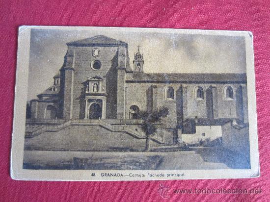 GRANADA - CARTUJA - FACHADA PRINCIPAL (Postales - España - Andalucia Moderna (desde 1.940))