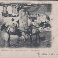 Postales: SIGLO XIX.- MALAGA- UNA ESCENA NATURAL EN EL GUADALMEDINA. Lote 29526177