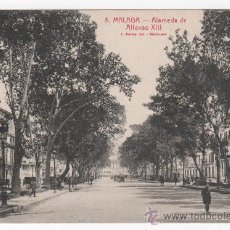 Postales: ANTIGUA POSTAL DE LA ALAMEDA DE ALFONSO XIII DE MÁLAGA. FOTO L. ROISÍN. Lote 29585643
