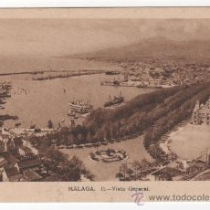 Postales: MUY ANTIGUA POSTAL DE MÁLAGA. VISTA GENERAL, CARTÓN GRUESO. ED. M. ARRIBAS. Lote 29585715