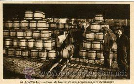 ALMERIA.- LOS MILLONES DE BARRILES DE UVAS PREPARADOS PARA EL EMBARQUE.- EDIC. ROISIN Nº 16. (Postales - España - Andalucía Antigua (hasta 1939))